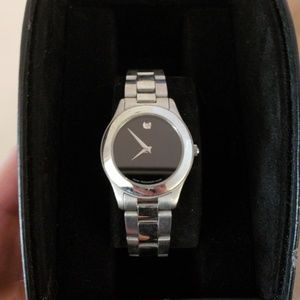 authentic stainless steel movado watch